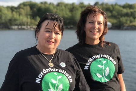 Elisabeth Jørgenvåg og Dina Gaupseth, fylkestingsrepresentanter NML